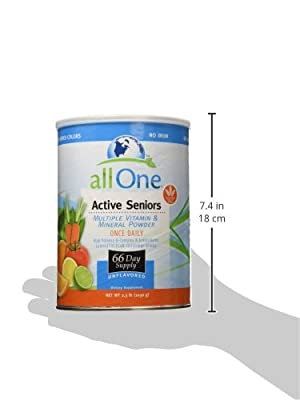 All One Nutritech Active Seniors Multiple Vitamin and Mineral Powder -- 2.3 lbs