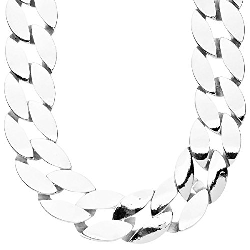 - Iced Out Hip Hop Bling BOLD CUBAN LINK CURB Chain - 25mm silver