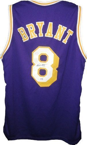 Kobe Bryant Hand-Signed  8 Full Signature LA Lakers Jersey Purple ... db3a55a52151
