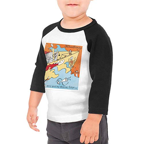 (Black6Red Mudhoney Every Good Boy Deserves Fudge Children's 3/4 Sleeve T-Shirt 2T)