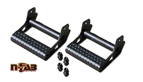 Rock Rail Step - N-Fab JPTS32 Textured Black RKR Rails; Detachable Step RKR/RockRailDetachableStep-Pair