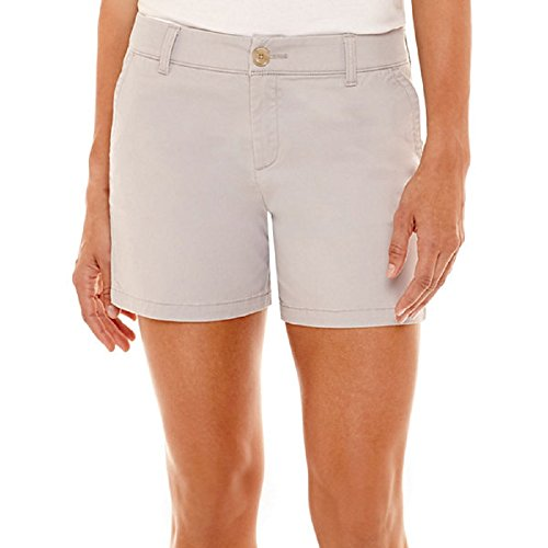 Liz Claiborne Stretch Twill Silver Screen Shorts Size 18 (Liz Claiborne Womens Shorts)