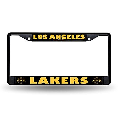 Los Angeles Lakers Chrome Frame (Black) Los Angeles Lakers Car