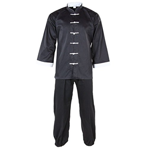 (Tiger Claw Kung Fu (Kungfu) Uniform 100% Cotton White Cuff Style #5 )