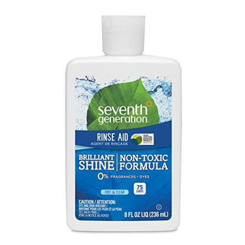 Seventh Generation Rinse Aid, Free & Clear, 8 oz (Pack of 9) ()