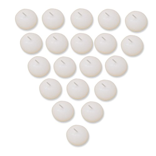 - Decor Hut Floating Disc Unscented Candles Pearl White Set of 24 2 Inch Wide Elegant Celebration Candles Enhance your weddings & parties