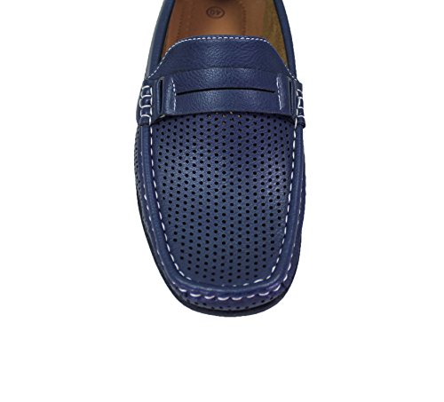 Mocassini uomo slip on blu scarpe casual traspiranti man's shoes top quality