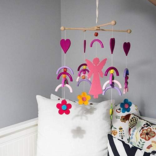 Ingodi - Cuna de madera para bebé o niña, juego móvil para gimnasio, juego de actividades, hecho a mano, diseño de cielo y avión, para colgar en la pared, regalo para baby shower