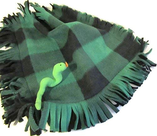 Buffalo Check Plaid Pets Blanket Green Fleece and Toy