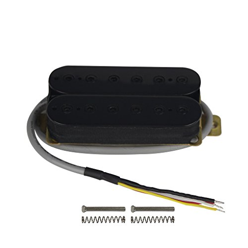 Double Humbucker - FLEOR Alnico 5 Electric Guitar Neck Pickup Double Coil Humbucker Pickups-Black