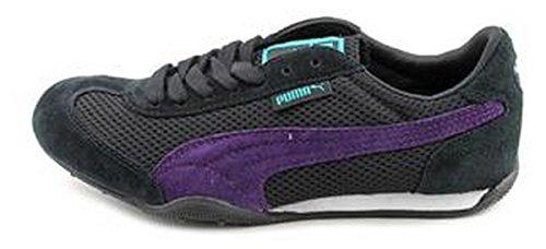 PUMA 76 Runner Mesh Women's Fashion Sneaker Size US 6.5 Black / Blackberry / Blue Style # 355755 04
