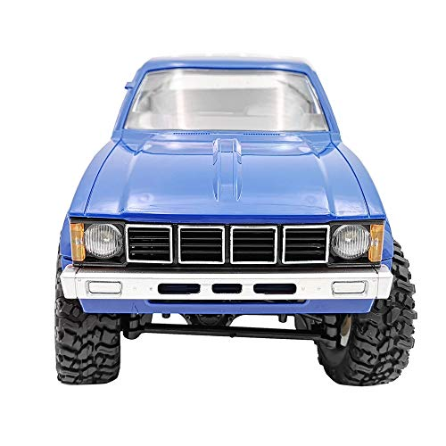 Littleice WPL C24 WD RC Truck 1/16 2.4Ghz Remote Control Crawler Military Truck Assemble Kit Remote Control Vehicle Toy (Blue) ()