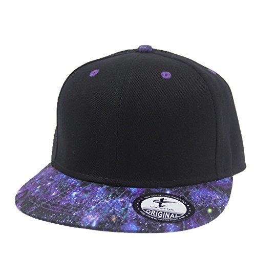 Connectyle Unisex Mens Fashion Cool Galaxy Brim Snapback Flat Bill Hat  Adjustable Hip Hop Trucker Cap
