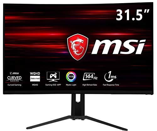 """MSI Optix MAG322CQRV - Monitor Gaming Curvo de 32"""" WQHD 144Hz (2560 X 1440 Pixeles, ratio 16:9, 1ms de respuesta, AMD FreeSync) negro"""