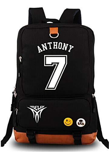 AUGYUESS Luminous Basketball Player Star Backpack School Bag Daypack Bookbag Shoulder Bag Laptop Bag