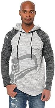 NFL Seattle Seahawks Men's Fleece Hoodie Pullover Sweatshirt Space Dye, Large,