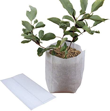 100Pcs Biodegradable Non-Woven Nursery Bag Plant Grow Se-ed Seedling Pots