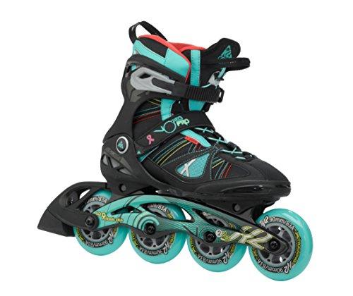 K2 Damen Inline Skate V02 90 Pro W, Schwarz/Türkis, 7.5, 3050104.1.1.075