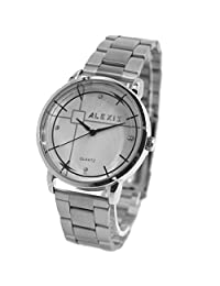 USFW824Q White Dial PNP Shiny Silver Watchcase Water Resist Men Women Bangle Watch
