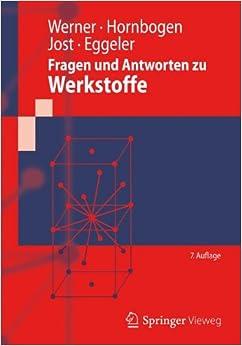 Book Fragen und Antworten zu Werkstoffe (Springer-Lehrbuch)