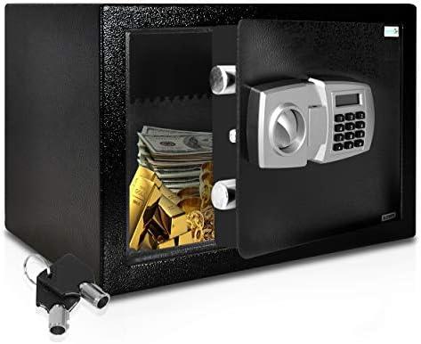SereneLife DropBox Safe Box Safes Lock Boxes Front Loading Safe Cash Vault Drop Lock Safe Security Box Digital Safe Box Money Safe Box Steel Alloy Drop Safe Includes Keys SLSFE348