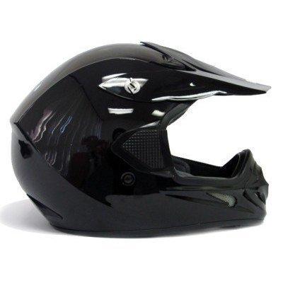 TMS® Adult TMS Gloss Black Dirt Bike ATV Motocross MX Helmet (Medium)