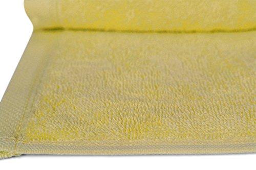 SALBAKOS Luxury Hotel & Spa Turkish Cotton 12-Piece Eco-Friendly Washcloth Set Bath, Yellow by SALBAKOS (Image #3)