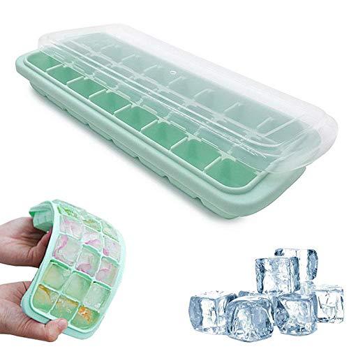 Compra FOONEE Gran cubo de hielo de silicona con cubierta ...