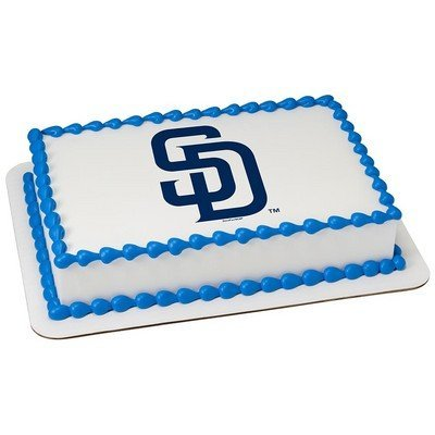 - San Diego Padres Licensed Edible Cake Topper #42553