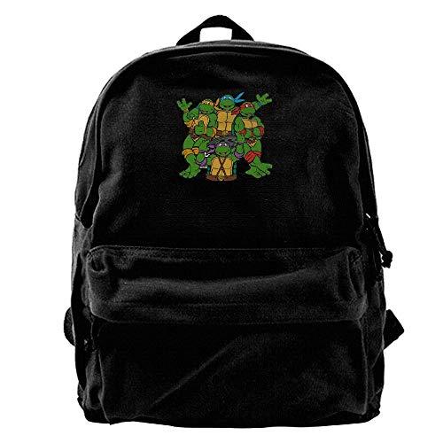 SakanpoNinja Turtle Specially Black Canvas Backpack ()