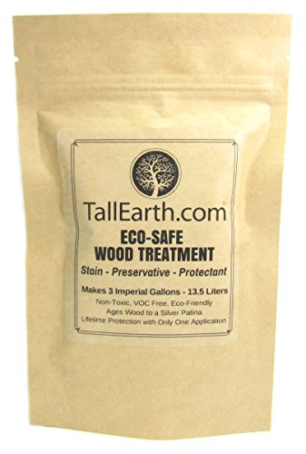 (ECO-SAFE Wood Treatment - Stain by Tall Earth Wood Preservatives - 1/3/5 Gallon Sizes - Non-Toxic/VOC Free/Natural Source (3 Gallon))