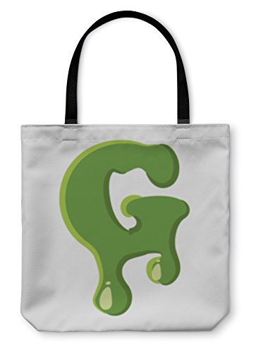 Gear New Shoulder Tote Hand Bag, Letter G Made Of Green Slime, 18x18, 5814397GN -