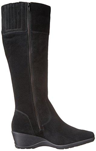 Clarks Womens Allura Klar Tall Boot Svart Mocka