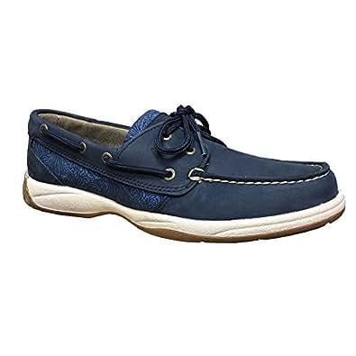 Sperry Top-Sider Intrepid Women's Flats & Oxfords Navy/True Blue/Cognac Size 6 M