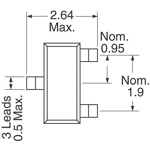 Pack of 100 MOSFET N-CH 60V 150MA SOT23-3 VN10LFTA