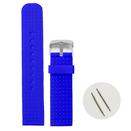 Price comparison product image Alexis 22mm Navy Blue Color Soft Silicone Jelly Rubber Unisex Watch Band Straps 1053Q