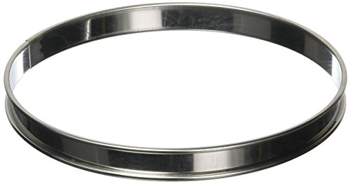 Matfer Bourgeat 371613 Plain Tart Ring, Silver (Matfer Bourgeat Ring)