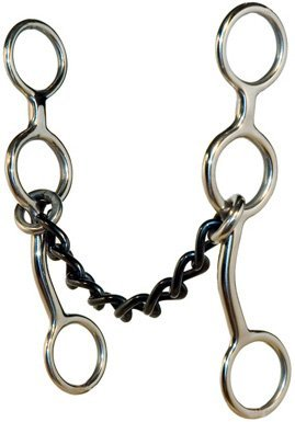 Metalab Junior Cow horse Chain Gag Bit - 5