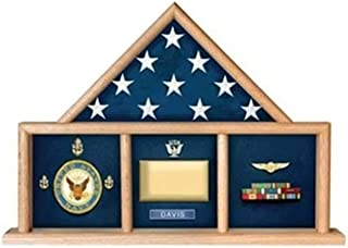 product image for flag connections USAF Shadow Box, Flag Medal Case, Master Sergeant Shadow Box