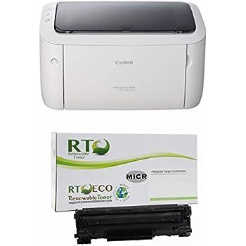Renewable Toner imageClass LBP6030W MICR Check Printer Bundle with 1 Canon Modified MICR Toner Cartridge (Starter Yield 500 Pages)
