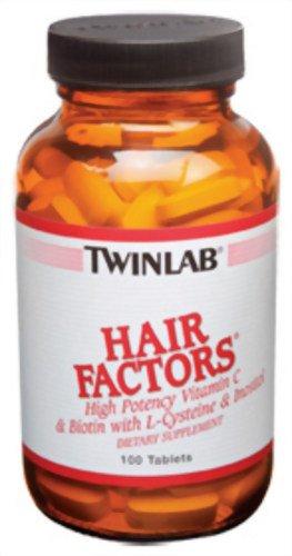 Facteurs de coiffure Twinlab, 100 comprimés (lot de 2)