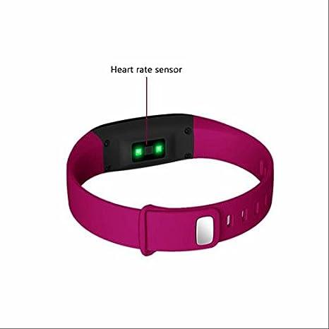 Smart Watch, Reloj Inteligente, con pulsómetro pantalla táctil bluetooth 4.0 Frecuencia Cardíaca Fitness pulsera actividad Tracker con - Tensiómetro para ...