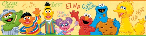 RoomMates Sesame Street Peel and Stick Border (Wall Borders Kids For)