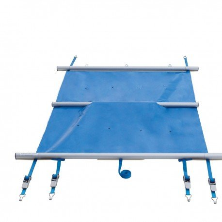 Easypiscine Abdeckplane Balkenanzeige Color Pool blau Decken-Sicherheit 4Jahreszeiten 7, 50m x 4, 00m 50m x 4 00m