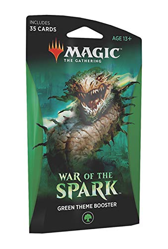 - Magic The Gathering: War of The Spark - Theme Booster Pack - Green