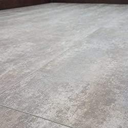 Turtle Bay Floors Waterproof Click WPC Flooring - Stoneridge Gray Travertine Tile-Look Rigid Core LVT (Sample)