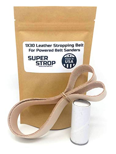 1x30 inch Leather Honing Strop Belt Super Strop fits 1x30 Powered Belt Sanders (Belt Sander 1 X 30)