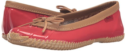 Women's M Flat Chooka Red 7 US Black Ballet Duck Skimmer ZxnnvBd0q
