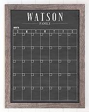 Dry Erase Framed Calendar, 18x24 Customized Dry Erase Wall Calendar, Modern Style Chalkboard Calendar, Family