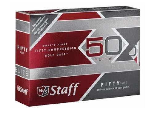 Wilson Staff Fifty Elite Golf Balls, Dozen Slide (3 Piece Golf Balls)